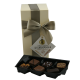 Gift ballotin with an assortment of milk, dark and white chocolates 175g