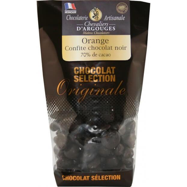 Sachet d'oranges confites enrobées de chocolat 130g