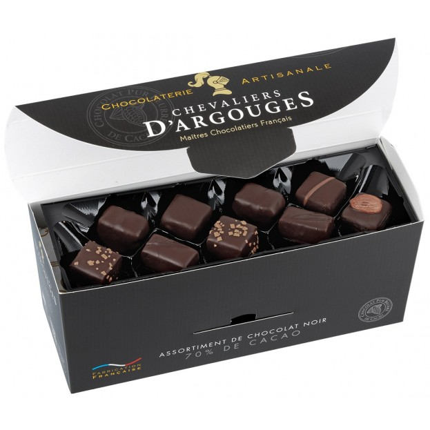 Assortment of Dark Chocolate sweets Chevaliers