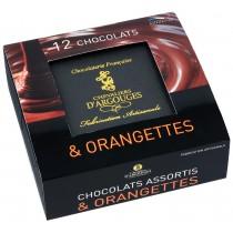 Coffret prestige assortiment chocolats et orangettes 240 gr