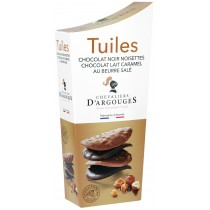 Dark Chocolate Tuiles Flavour Saletd butter Caramel