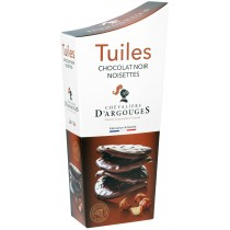 Dark Chocolate Tuiles with pieces of Nuts