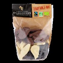 ORGANIC Milk, Dark and White chocolates Easter treats 200g