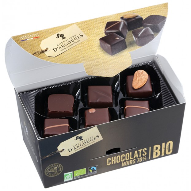 Dark chocolate assortment, Organic and Fairtrade labelled 175g