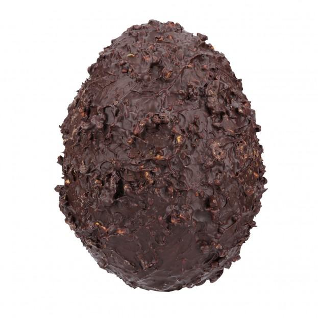 Oeuf Chocolats Noir aux Eclats d'Amandes Caramélisé