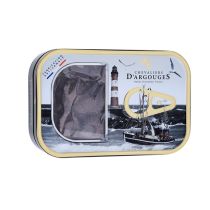 Tin box with Sardines in Dark chocolate