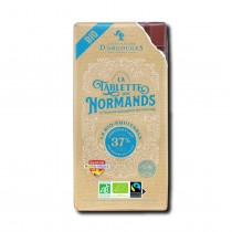 Milk chocolate tablet 37% cocoa content - Organic and Fairtrade