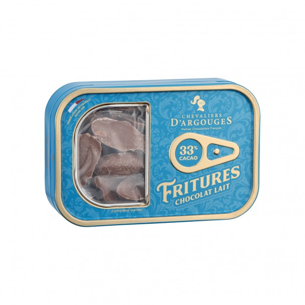 Tin box With Sardines in Milk chocolates 100g